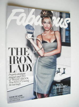 Fabulous magazine - Kelly Brook cover (4 February 2012)