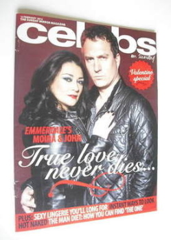 Celebs magazine - James Thornton and Natalie J Robb cover (12 February 2012)