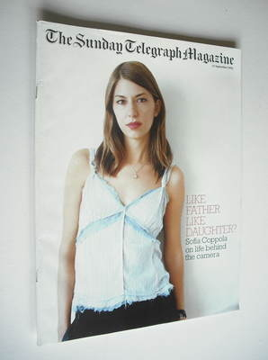 The Sunday Telegraph magazine - Sofia Coppola cover (21 September 2003)