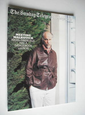 The Sunday Telegraph magazine - John Malkovich cover (30 March 2003)
