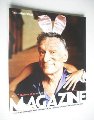 <!--2003-11-01-->The Times magazine - Hugh Hefner cover (1 November 2003)