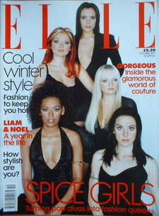 <!--1997-10-->British Elle magazine - October 1997 - The Spice Girls cover