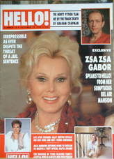 <!--1989-10-14-->Hello! magazine - Zsa Zsa Gabor cover (14 October 1989 - I