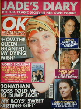 <!--2009-04-21-->OK! magazine - Jade Goody cover (21 April 2009 - Issue 670