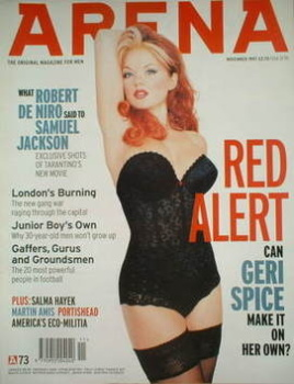 Arena magazine - November 1997 - Geri Halliwell cover