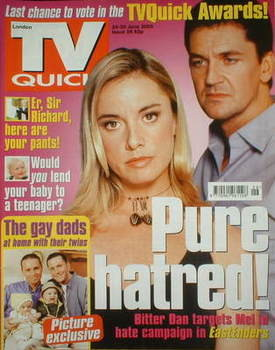 TV Quick magazine - Tamzin Outhwaite and Craig Fairbrass cover (24-30 June