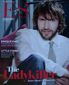<!--2007-12-21-->Evening Standard magazine - James Blunt cover (21 December