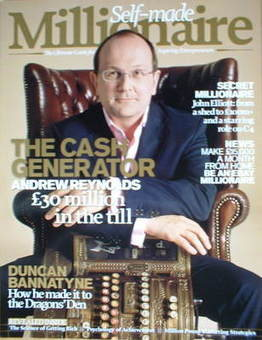 Self-made millionaire magazine - Andrew Reynolds cover (Issue 1)