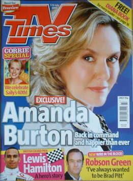 <!--2007-07-07-->TV Times magazine - Amanda Burton cover (7-13 July 2007)