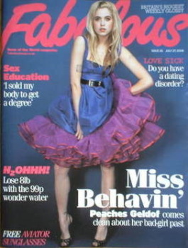 Fabulous magazine - Peaches Geldof cover (27 July 2008)