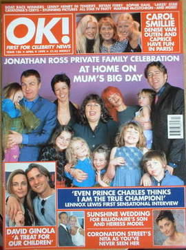 <!--1999-04-09-->OK! magazine - Martha Ross and family cover (9 April 1999