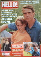 <!--1989-07-29-->Hello! magazine - Jeremy Irons cover (29 July 1989 - Issue