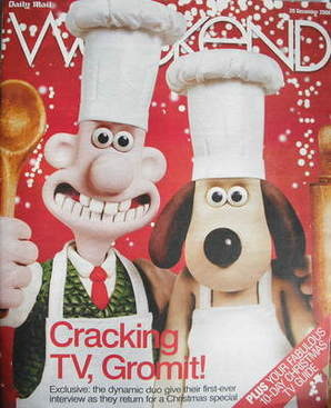<!--2008-12-20-->Weekend magazine - Wallace and Gromit cover (20 December 2