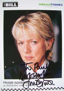 Trudie Goodwin autograph (ex The Bill actor)
