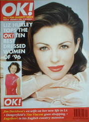 <!--1996-12-08-->OK! magazine - Liz Hurley cover (8 December 1996 - Issue 3