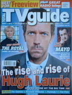 Total TV Guide magazine - Hugh Laurie cover (11-17 March 2006)