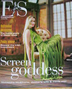 <!--2004-02-27-->Evening Standard magazine - Natascha McElhone cover (27 February 2004)