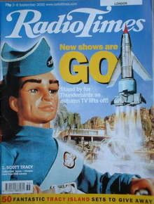 <!--2000-09-02-->Radio Times magazine - Thunderbirds Scott Tracy cover (2-8