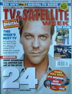 TV & Satellite Week magazine - Kiefer Sutherland cover (29 January 2005)