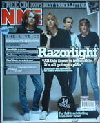 <!--2004-10-02-->NME magazine - Razorlight cover (2 October 2004)
