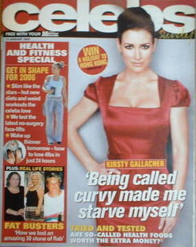 <!--2006-01-15-->Celebs magazine - Kirsty Gallacher cover (15 January 2006)
