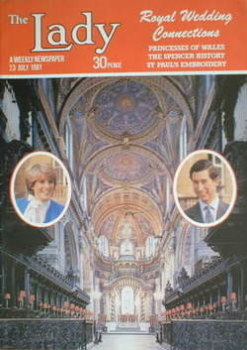 The Lady magazine (23 July 1981 - St Paul's Cathedral cover)