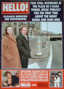 <!--1998-01-17-->Hello! magazine - Place de l'Alma cover (17 January 1998 -