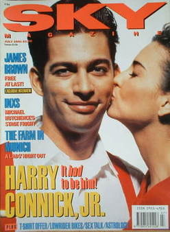 <!--1991-07-->Sky magazine - Harry Connick Jr cover (July 1991)