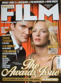 Total Film magazine - Quentin Tarantino and Uma Thurman cover (December 2004)