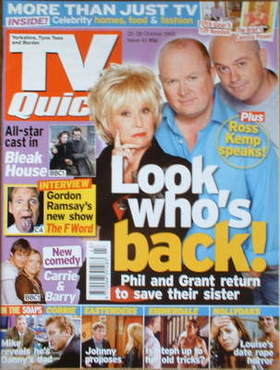 TV Quick magazine - Barbara Windsor, Steve McFadden and Ross Kemp cover (22