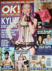 <!--2002-05-09-->OK! magazine - Kylie Minogue cover (9 May 2002 - Issue 314