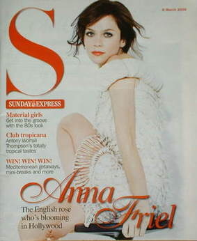 <!--2009-03-08-->Sunday Express magazine - 8 March 2009 - Anna Friel cover