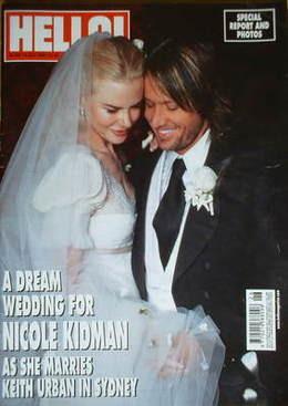 <!--2006-07-04-->Hello! magazine - Nicole Kidman and Keith Urban wedding co