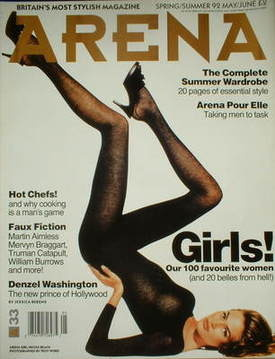 <!--1992-05-->Arena magazine - May/June 1992 - Nicole Beach cover