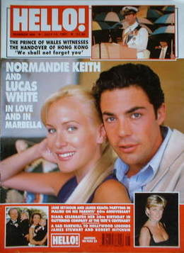 <!--1997-07-12-->Hello! magazine - Normandie Keith and Lucas White cover (1