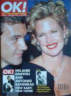 <!--1996-11-24-->OK! magazine - Melanie Griffith and Antonio Banderas cover
