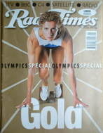<!--1996-07-20-->Radio Times magazine - Sally Gunnell cover (20-26 July 199