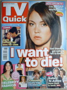 TV Quick magazine - Lacey Turner cover (2-8 February 2008)