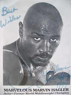 Marvelous Marvin Hagler autograph