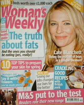 <!--2009-03-24-->Woman's Weekly magazine (24 March 2009 - Cate Blanchett co