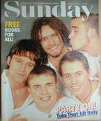 <!--1995-02-12-->Sunday magazine - 12 February 1995 - Take That cover