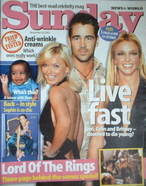 <!--2003-11-30-->Sunday magazine - 30 November 2003 - Live Fast cover