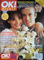 <!--1996-04-07-->OK! magazine - Martine McCutcheon cover (7 April 1996 - Issue 3)