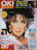 OK! magazine - Elizabeth Taylor cover (14 April 1996 - Issue 4)