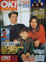 <!--1996-06-16-->OK! magazine - Christopher Reeve and family cover (16 June