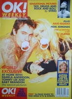 <!--1996-08-04-->OK! magazine - Pamela Anderson, Tommy Lee and baby Brandon cover (4 August 1996 - Issue 20)