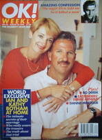 OK! magazine - Ian Botham & Kathy Botham cover (25 August 1996 - Issue 23)