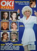 <!--1996-09-01-->OK! magazine - Top 100 earners cover (1 September 1996 - Issue 24)