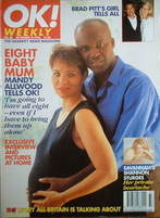 <!--1996-09-15-->OK! magazine - Mandy Allwood cover (15 September 1996 - Is