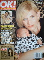 <!--1996-11-03-->OK! magazine - Michelle Collins cover (3 November 1996 - I